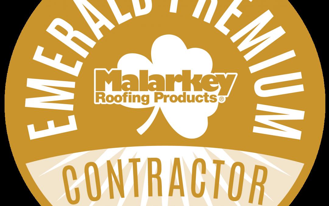 Scott's Roofing Receives Malarkey Emerald Premium Designation